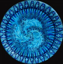 Plat en céramique émaillée art Déco